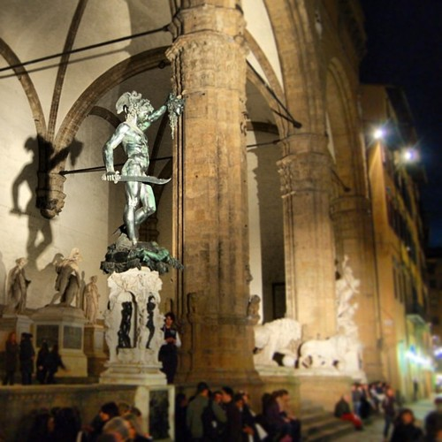 Sculptures in the Loggia del Lanzi