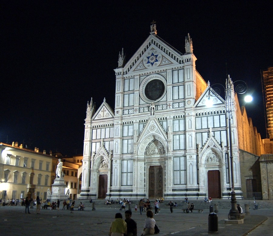 santa croce Santa croce, a gorgeous florence church with frescoes by giotto, architecture by brunelleschi, and the tombs of michelangelo, galileo, rossini, and other tuscan cultural giants.
